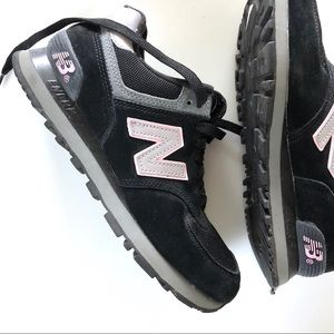 NEW BALANCE - Pink and Black Sneakers